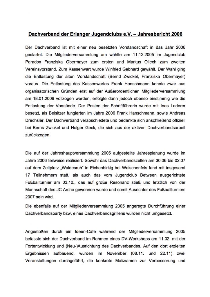 Jahresbericht DV 2006 1