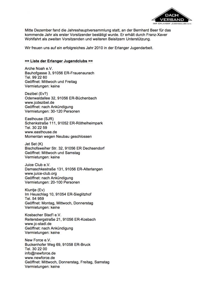 jahresbericht DV 2009 2